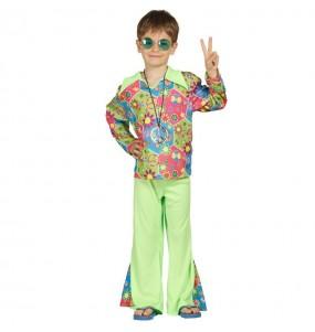 Disfraz de Hippie flores chico infantil
