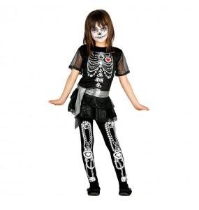 disfraz esqueleta lujo infantil