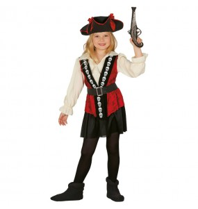 disfraz pirata calavera niña infantil