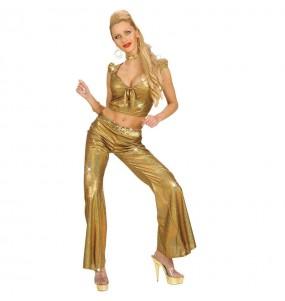 Disfraz de Pantalón Holográfico Oro