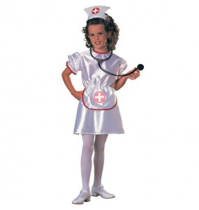 Disfraz de Enfermera Blanca niña