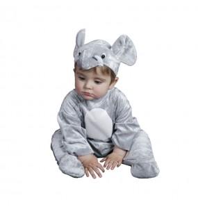 Disfraz de Elefante Gris bebé