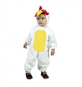Disfraz de Gallo Blanco infantil