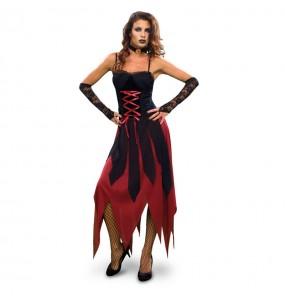 Disfraz de Vampiresa Gótica Sexy mujer