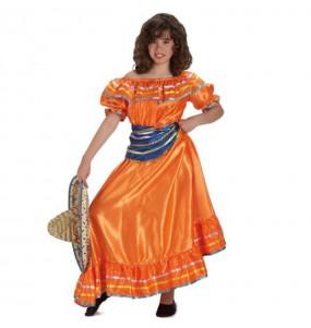 Disfraz de Mejicana Lujo Chica