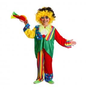 disfraz payaso colorido infantil