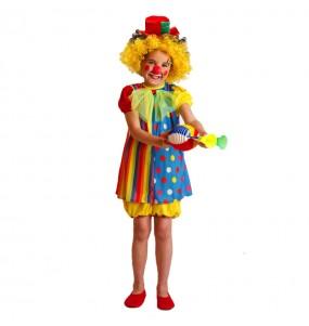 disfraz payasa colorida infantil
