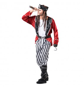 Disfraz de Pirata Barba Negra para hombre