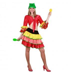 Disfraz de Rumbera Colores