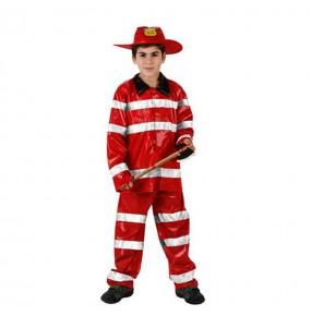 Disfraz de Bombero Rojo infantil