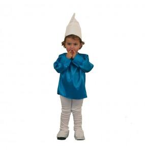 Disfraz de Gnomo azul para niños pequeños