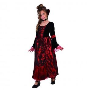 Disfraz de Vampiresa Gótica Lujo niña