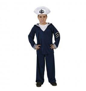 Disfraz de chico Marinero azul
