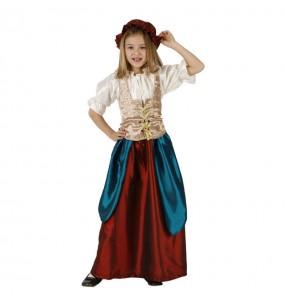 Disfraz de Sirvienta Medieval niña