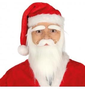 Barba, bigote y cejas Papá Noel