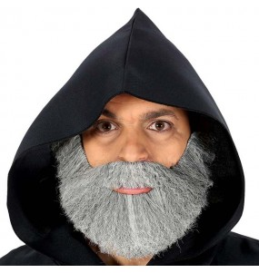 Barba tupida gris