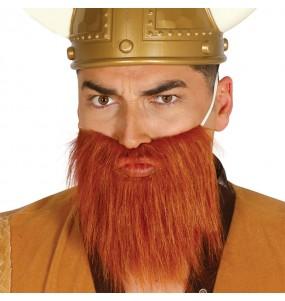 Barba Vikingo Castaña