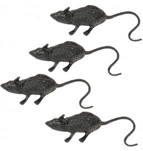 Ratas decoración bolsa 4 uds
