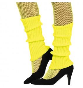 Calentadores Amarillos disfraz