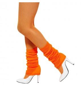 Calentadores naranja neón disfraz