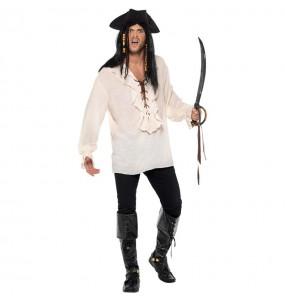 Camisa Pirata Marfil para hombre