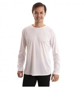 Camiseta blanca para hombre de manga larga