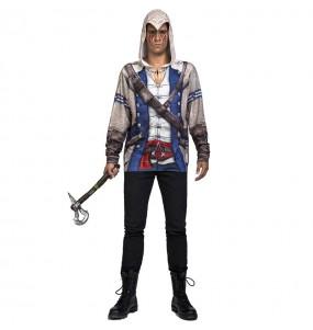 Camiseta Disfraz Ratonhnhaké Ton Assassin's Creed adulto