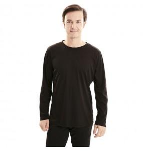 Camiseta negra para adulto de manga larga