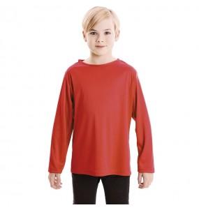 Camiseta roja infantil de manga larga