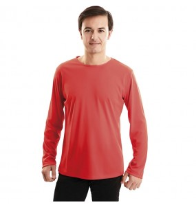 Camiseta roja para adulto de manga larga