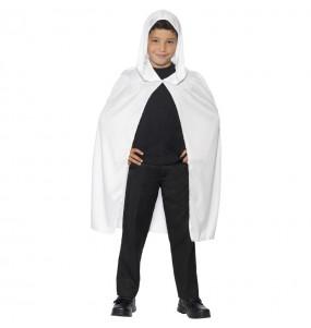 Capa con capucha blanca infantil