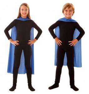 Capa superhéroe azul infantil