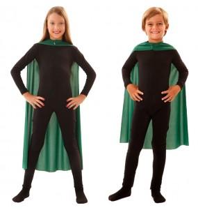 Capa superhéroe verde infantil