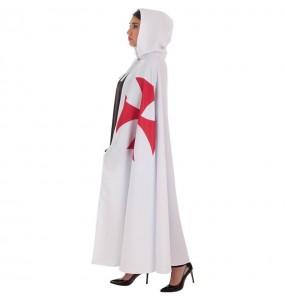 Capa Templario Medieval Blanca para adulto