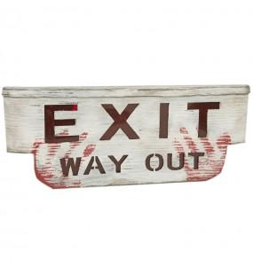 Cartel Exit decorativo con luz y sonido
