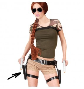 Cartuchera Lara Croft doble con pistolas