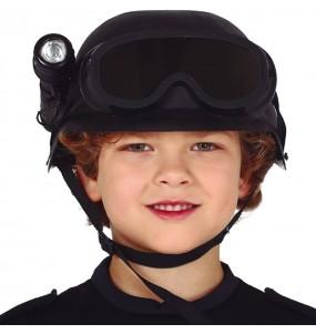 Casco Policía Swat con linterna