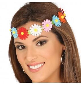 Cinta Hippie con flores multicolor