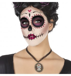 Collar Catrina mexicana