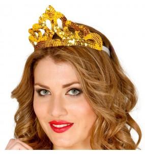 Corona Lentejuelas oro