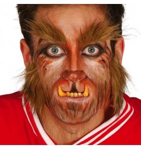 Dentadura dientes hombre lobo