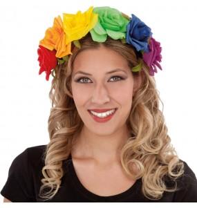 Diadema de flores del Orgullo Gay