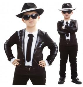 Disfraz camiseta Blues Brothers para niño
