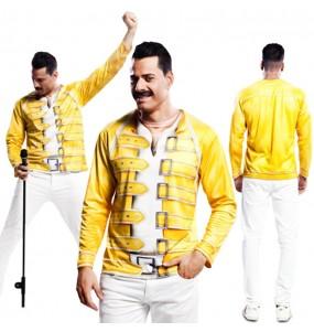 Disfraz Camiseta hiperrealista Freddie Mercury hombre
