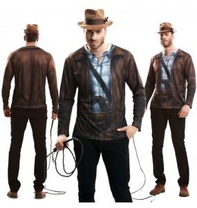 Disfraz Camiseta hiperrealista de Indiana Jones