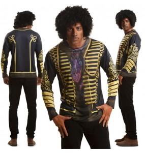 Disfraz Camiseta hiperrealista Jimmy Hendrix