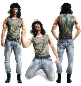 Disfraz Camiseta Hiperrealista de John Rambo