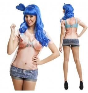 Disfraz Camiseta hiperrealista Katy Perry Cupcake