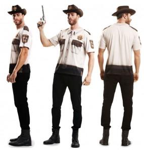 Disfraz Camiseta hiperrealista Sheriff