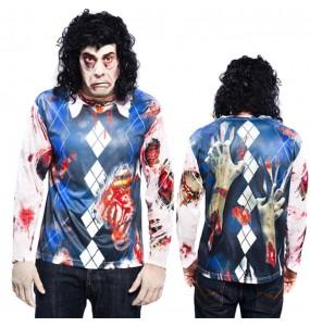 Disfraz Camiseta hiperrealista Zombi Hombre
